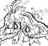 61/627/Дизайнерски печати и надписи за картички-Флорални елементи-19