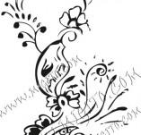 61/629/Дизайнерски печати и надписи за картички-Флорални елементи-21
