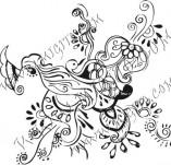 61/630/Дизайнерски печати и надписи за картички-Флорални елементи-22