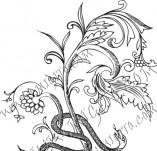 61/639/Дизайнерски печати и надписи за картички-Флорални елементи-31