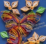 15/72/Panels-Panels with quilling-Butterflies