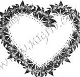 100/882/Дизайнерски печати и надписи за картички-Сърчица-Печат на сърце 1