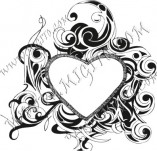100/883/Design stamps and inscriptions-Hearts-Heart 2