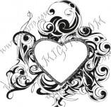 100/883/Дизайнерски печати и надписи за картички-Сърчица-Печат на сърце 2