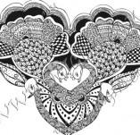100/884/Дизайнерски печати и надписи за картички-Сърчица-Печат на сърце 18