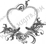100/885/Design stamps and inscriptions-Hearts-Heart 5