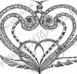 100/886/Design stamps and inscriptions-Hearts-Heart 6