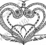 100/886/Дизайнерски печати и надписи за картички-Сърчица-Печат на сърце 6