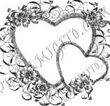 100/888/Дизайнерски печати и надписи за картички-Сърчица-Печат на сърце 3