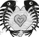 100/891/Дизайнерски печати и надписи за картички-Сърчица-Печат на сърце 20