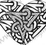 100/892/Дизайнерски печати и надписи за картички-Сърчица-Печат на сърце 19