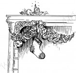 25/895/Дизайнерски печати и надписи за картички-Нова Година-Огнище