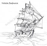 101/910/Дизайнерски печати и надписи за картички-Морски-Кораб