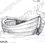101/911/Дизайнерски печати и надписи за картички-Морски-Лодка