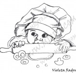 20/912/Дизайнерски печати и надписи за картички-Деца-Готвач ще съм голям