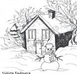 103/925/Дизайнерски печати и надписи за картички-Къщи-Къщурка