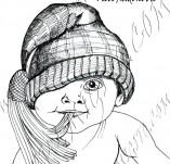 20/938/Дизайнерски печати и надписи за картички-Деца-Закачка