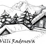 103/940/Дизайнерски печати и надписи за картички-Къщи-Високо в планината