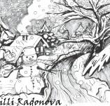 103/943/Дизайнерски печати и надписи за картички-Къщи-Зима е