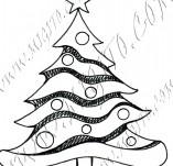 25/952/Дизайнерски печати и надписи за картички-Нова Година-Елха 4