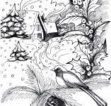 25/953/Дизайнерски печати и надписи за картички-Нова Година-Зимна приказка