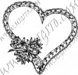 100/962/Дизайнерски печати и надписи за картички-Сърчица-Печат на сърце 4