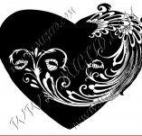 100/964/Design stamps and inscriptions-Hearts-Heart 10