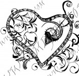 100/966/Дизайнерски печати и надписи за картички-Сърчица-Печат на съце 14