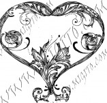 100/967/Design stamps and inscriptions-Hearts-Heart 12
