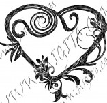 100/968/Design stamps and inscriptions-Hearts-Heart 15