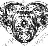 100/969/Дизайнерски печати и надписи за картички-Сърчица-Печат на съце 16