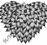 100/970/Дизайнерски печати и надписи за картички-Сърчица-Печат на съце 17