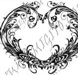 100/971/Дизайнерски печати и надписи за картички-Сърчица-Печат на сърце 21