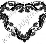 100/972/Дизайнерски печати и надписи за картички-Сърчица-Печат на сърце 22