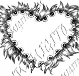 100/973/Дизайнерски печати и надписи за картички-Сърчица-Печат на сърце 23