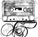 104/977/Дизайнерски печати и надписи за картички-Музикални-Касетка