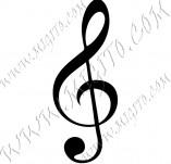 104/978/Дизайнерски печати и надписи за картички-Музикални-Ключ сол