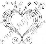 100/979/Дизайнерски печати и надписи за картички-Сърчица-Сърце с ноти