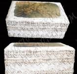 105/983/Декупаж-Каменна дантела -Кутия с каменна дантела и момина сълза
