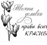 21/988/Дизайнерски печати и надписи за картички-Романтика-Твоята усмивка