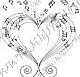 104/994/Дизайнерски печати и надписи за картички-Музикални-Любовта е музика