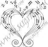 21/995/Дизайнерски печати и надписи за картички-Романтика-Любовта е музика